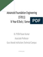 Advanced Foundation Engineering (57011)