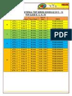 Aiits Schedule - 2015
