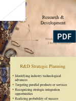 R&;D Strategic Planning & Ethics