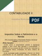 CONTABILIDADE II - Aula 06 Impostos Municipais(1)
