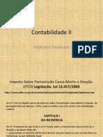 Contabilidade II - ITCD