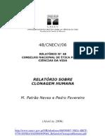 Relatório Clonagem Humana - 48 CNECV 06