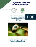 Boletim Semanal N.º 22 2009-2010