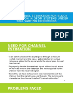 Channel Estimation in Ofdm System Using Block Pilot