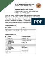 Mikoa Itakayofanya Uchaguzi Kwa Sababu Mbalimbali