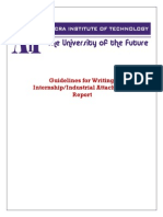 AIT Internship Report Guidelines