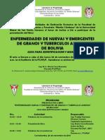 Invitación a la presentación Libro Enfermedades Granos y Tuberculos Andinos de Bolivia