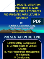 Irigation Adaptation to Climate Change