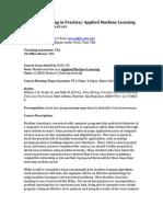 MachineLearningInPracticeSyllabus-F13