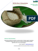 11th November ,2015 Daily Exclusive ORYZA Rice E_Newsletter by Riceplus Magazine