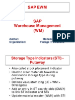 Storage type indicators in SAP WM