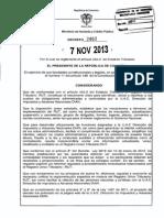 Decreto 2460 Del 07 de Noviembre de 2013