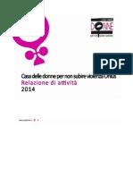 Relazione 2014 Casa delle Donne di Bologna