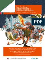 Programmheft Esslinger Mittelaltermarkt & Weihnachtsmarkt