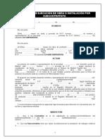 CTO SUBCONTRATACION OBRA Completo Incluye Dossier Legal