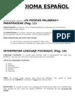 Cuestionario Idioma Español
