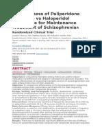 Effectiveness of Paliperidone Palmitate vs Haloperidol Decanoate for Maintenance Treatment of SchizophreniaA Randomized Clinical Trial