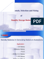 Fundamentals, Selection and Sizing of Standby Batteries