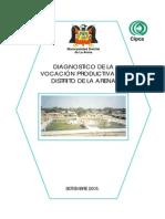 Diagnóstico de La Vocación Productiva Del Distrito de La Arena