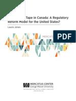 Cutting Red Tape in Canada