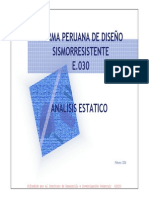 Analisis Estatico Aplicando La Norma Sismoresistente E-030