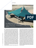 The Material Properties in the Design of Tensile Fabric Structures - A Designer's Approach