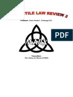 Marx Notes - Mercantile Law Review 2 (Dimayuga)