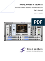 Torpedo Wall of Sound III Manual