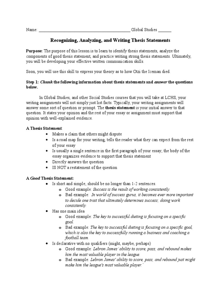 The Breakfast Club Essay  We Write Essays For You also Cultural Autobiography Essay Thesis Statement Lesson  Essays  Thesis Essay Reading