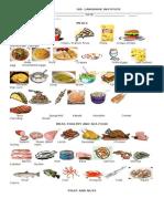 Food Vocabulary Instituto de Lenguas.