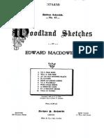 10 Woodland Sketches, Op.51 (MacDowell, Edward)
