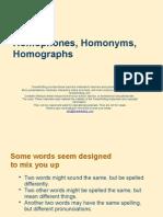 Homophones Homonym