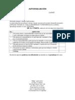 Autoevaluación Final Estud 2015