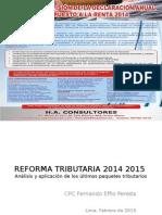 Reforma Tributaria 2014 2015