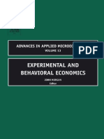 Experimental and Behavioral Economics
