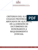 Honorarios Abogados Alicante