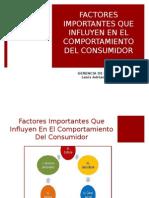 Factores Que Influyen Positivamente en El Consumidor