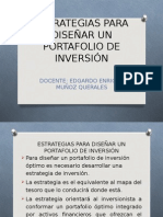 Estrategias Portafolio de Inversion