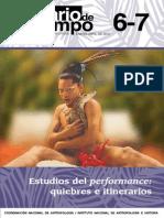 Revista Diario de Campo 2015. Estudios Del Performance