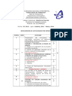 Cronograma de Diseño de Plantas III-2015