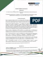 Decreto No. 100-D-099 de 2014 Octubre 30