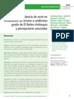 Prevalencia de Acne en Adolescentes de Un Municipio Colombiano