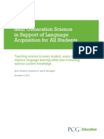 PCG Education White Paper - Next Generation Science in Support of Language Acquisition for All Students