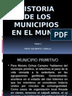 Tema 2, Origen de Los Municipios