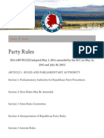 Party Rules - Alaska Republican Party (2016)