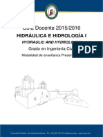Gd1516 Hidraulica Hidrologia i