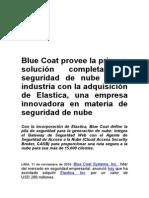 Blue Coat provee la primera solución completa de seguridad de nube de la industria con la adquisición de Elastica