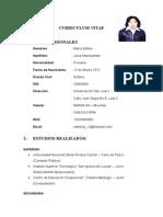 Curriculum Vitae Julca Astuhuaman Maria Esther[1]