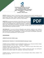 Ciência Politica I - 2010-1 Silvana