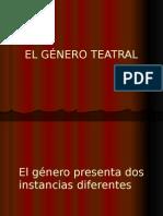 El Género Teatral